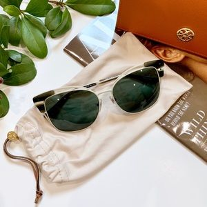 Tory Burch Sunglasses NWOT Cat Eye Metal Frame